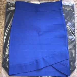 Guess blue Bandage mini skirt XS